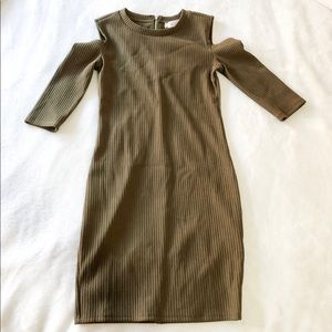 Olive Cold Shoulder Dress